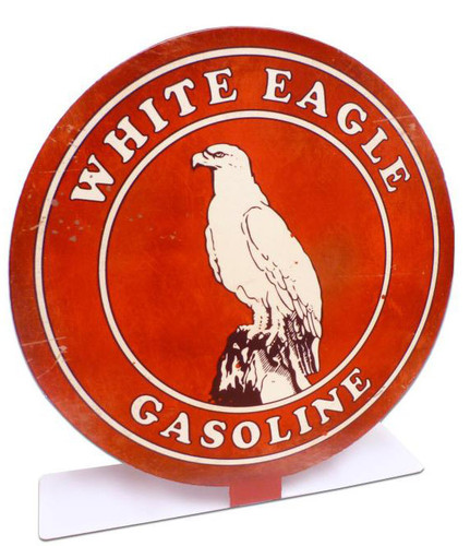 Retro White Eagle Gas Table Topper  8 x 8 Inches