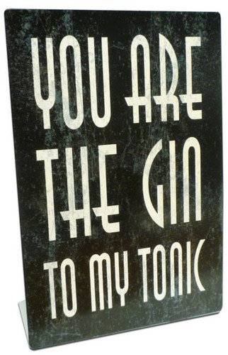 Gin Tonic Table Topper 6 x 9 Inches