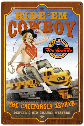 California Zephyr XL Metal Sign 24 x 36 Inches