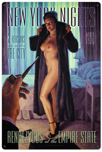 Rendezvous At The Empire Pinup Metal Sign 24 x 36 Inches