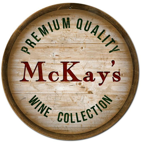 Wine Barrel Personalized Sign 14 x 14 Inches