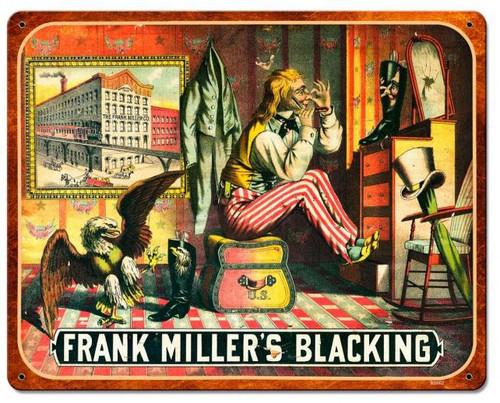 Frank Miller Blackening Vintage Metal Sign 15  x 12 Inches