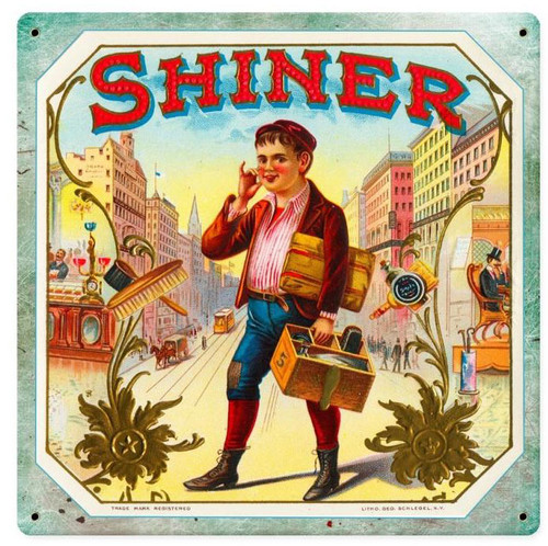 Shiner Vintage Metal Sign 12  x 12 Inches