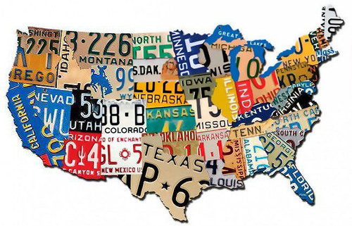 Retro License Plate USA Metal Sign 15 x 9 Inches