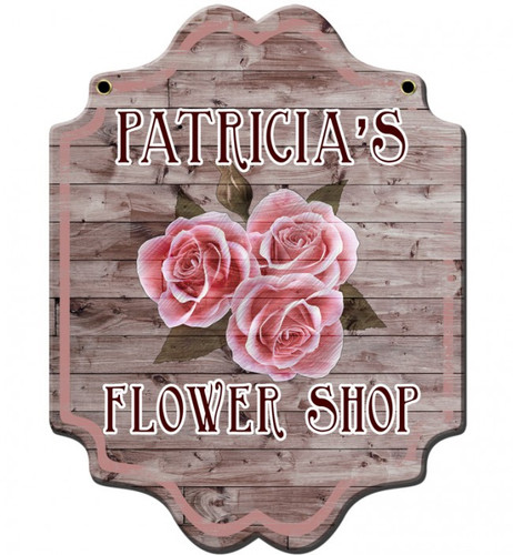 Flower Shop Metal Sign - Personalized 22 x 26 Inches