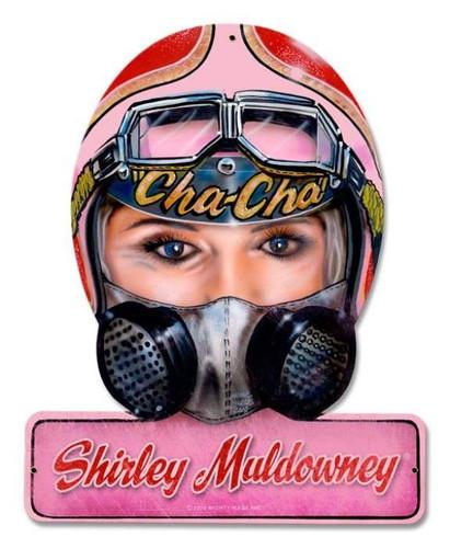 Vintage Muldowney Helmet Metal Sign 12 x 15 Inches
