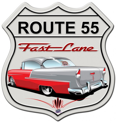 55 Chevy Shield shield Metal Sign 15 x 15 Inches
