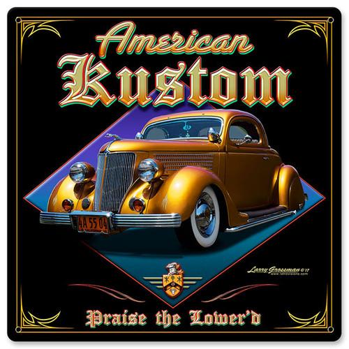 American Kustom Metal Sign 12 x 12 Inches