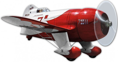 1932 Gee Bee Race Plane Metal Sign 14 x 7 Inches