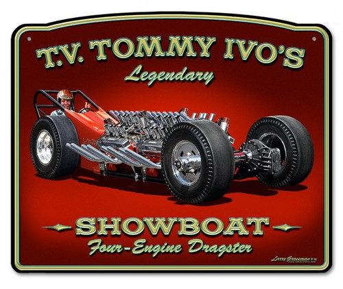 Tommy Ivo Dragster Metal Sign 15 x 12 Inches