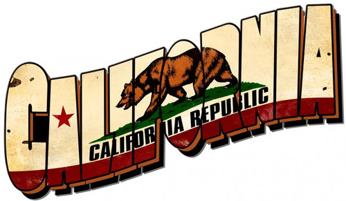 California Flag Metal Sign 22 x 13 Inches