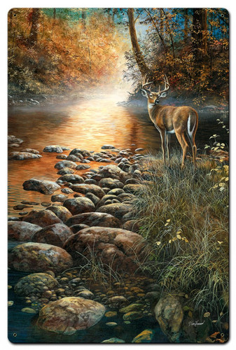 Beside Still Waters Metal Sign 16 x 24 Inches