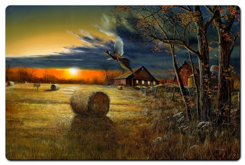 Autumn Harvest Metal Sign 24 x 16 Inches