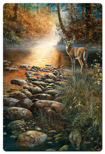 Beside Still Waters Metal Sign 24 x 36 Inches