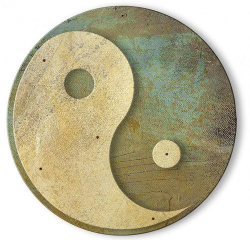 Yin And Yang 3D Round Metal Sign Metal Sign 24 x 24 Inches
