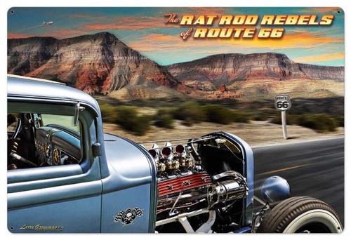 Rat Rod Rebels Metal Sign 36 x 24 Inches