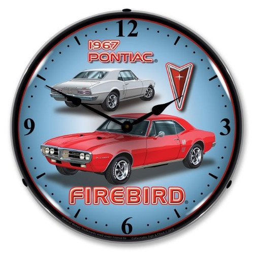 1967 Firebird Lighted Wall Clock 14 x 14 Inches