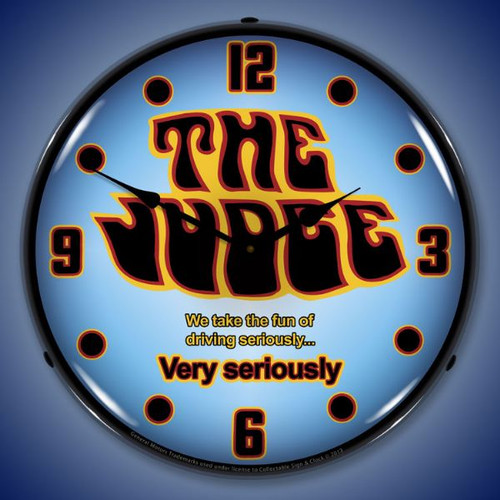 GTO The Judge Lighted Wall Clock 14 x 14 Inches
