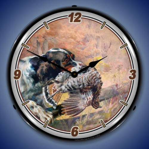 The Retrieve Lighted Wall Clock 14 x 14 Inches