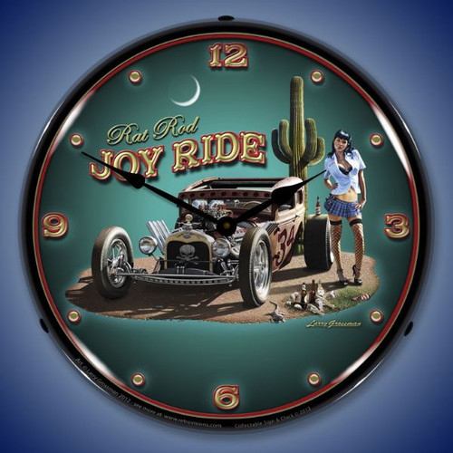Joy Ride Lighted Wall Clock 14 x 14 Inches