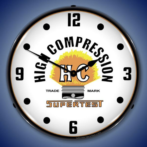 Supertest HC Lighted Wall Clock 14 x 14 Inches