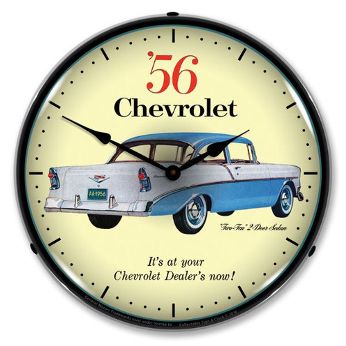 1956 Chevrolet Two Ten Lighted Wall Clock 14 x 14 Inches