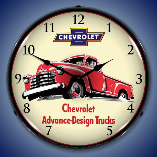 1953 Chevrolet Truck Lighted Wall Clock 14 x 14 Inches