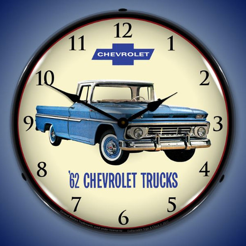 1962 Chevrolet Truck Lighted Wall Clock 14 x 14 Inches