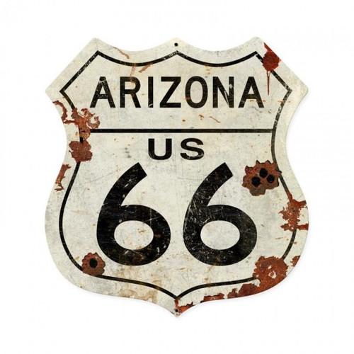 Arizona US 66 Metal Sign  28 x 28 Inches