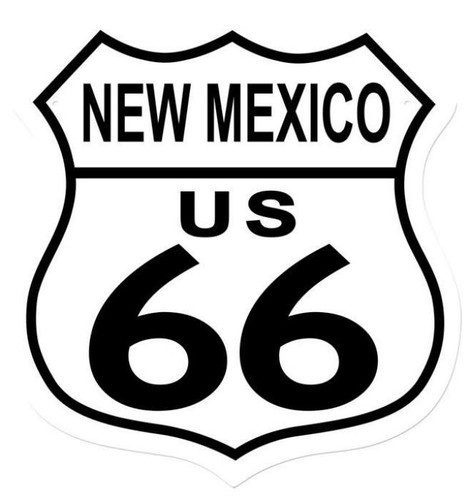 Retro Route 66 New Mexico Shield Metal Sign 15 x 15 Inches