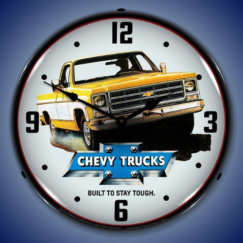 1979 Chevrolet Truck Lighted Wall Clock 14 x 14 Inches