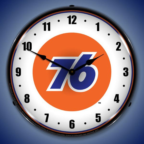 Union 76  Lighted Wall Clock 14 x 14 Inches