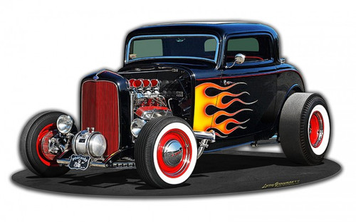 1932 Deuce Coupe Metal Sign 17 x 9 Inches