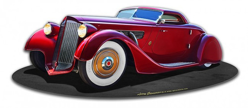 1940 Packard Kustom Metal Sign 18 x 7 Inches