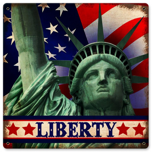Liberty Metal Sign 12  x 12 Inches