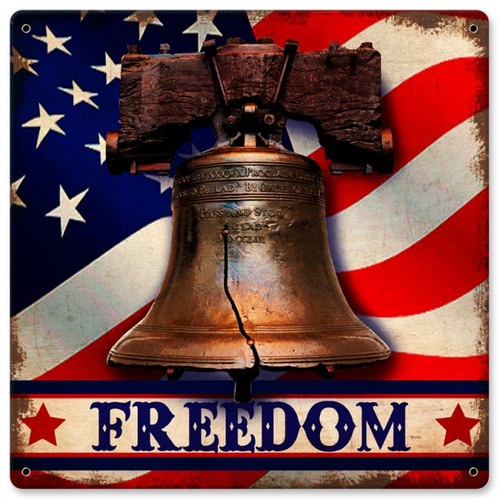 Freedom Metal Sign 12  x 12 Inches