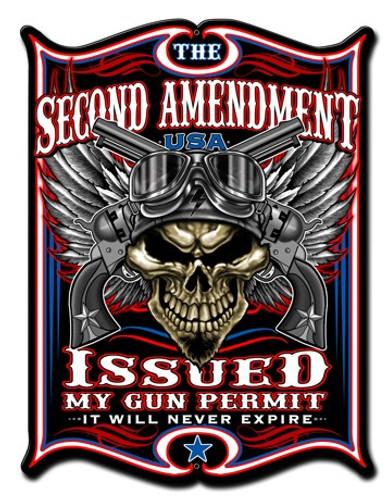 2nd Amendment Metal Sign 14 x 19 Inches
