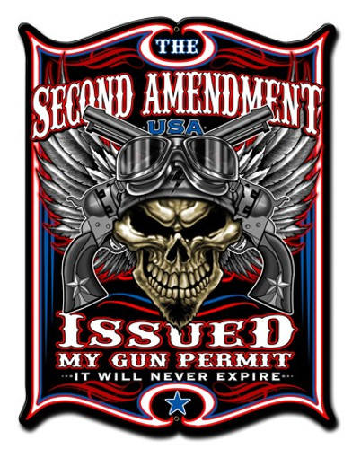 2nd Amendment Metal Sign 18 x 24 Inches