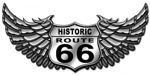 Route 66 Bike Metal Sign 24 x 12 Inches