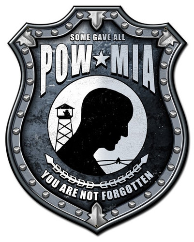 POW MIA Metal Sign 24 x 30 Inches