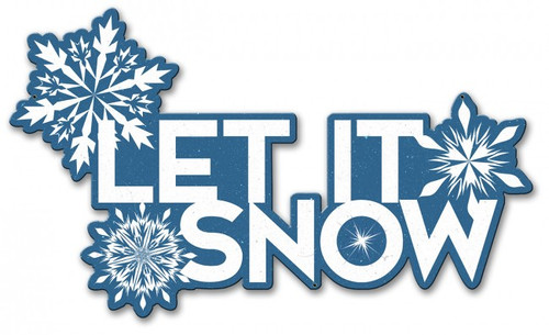 Let It Snow Metal Sign 21 x 12 Inches