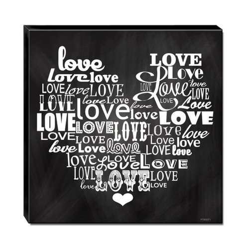 3-D Layered Love Heart Metal Sign 12 x 12 Inches