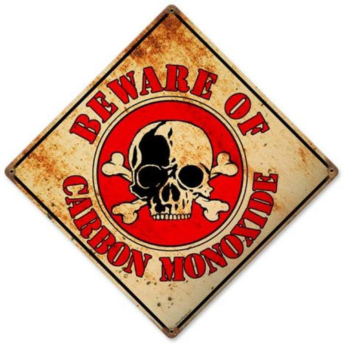 Vintage Beware Metal Sign 12 x 12 Inches