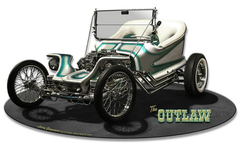 1959 The Outlaw Metal Sign 15 x 8 Inches