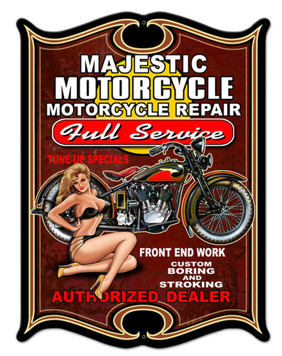 Full Service Metal Sign 14 x 19 Inches