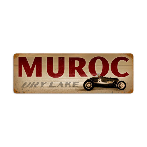 Muroc Metal Sign 24 x 8 Inches