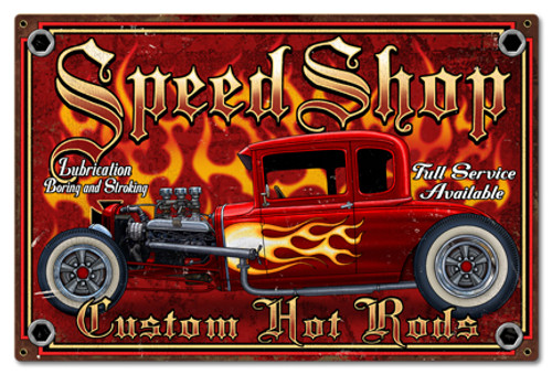 Speedshop Metal Sign 24 x 16 Inches