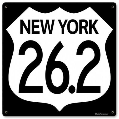 Vintage Marathon New York Metal Sign 12 x 12 Inches