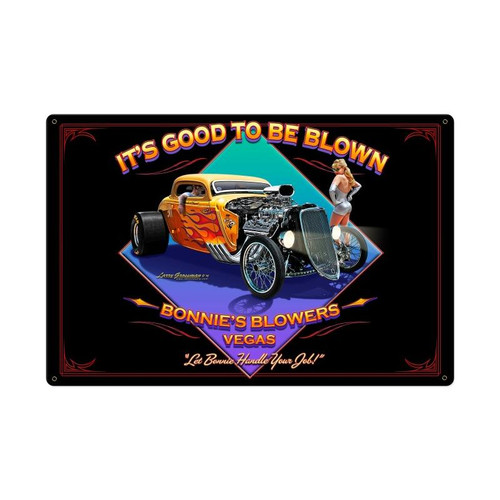 Blown Metal Sign 36 x 24 Inches