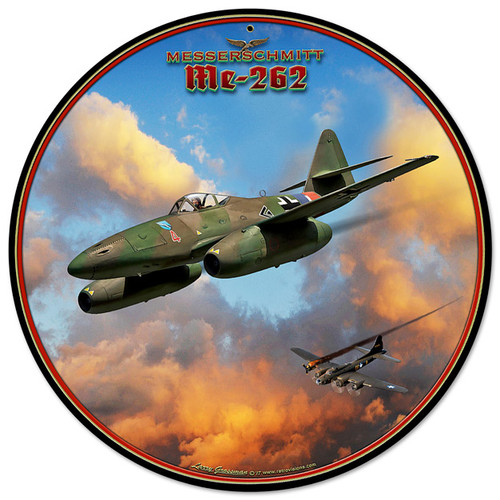 Me-262 Jet Metal Sign 14 x 14 Inches
